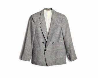 Vintage 70s/80s Women's Gray Tweed Blazer Jacket - women's xs