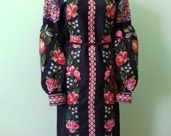 Ukrainian embroidery, embroidered dress, XS - 4XL, Ukraine