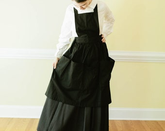 Modern Apron - pocket apron - Garden Apron Regency Dress Prairie Apron - Amish Movie Play Costume reenactment living history costume apron