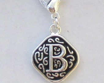Vintage  Letter B  Dangle  Lobster Claw for Necklace - Bracelets - Key Chains