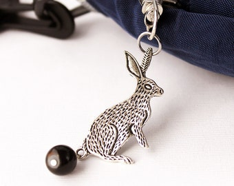 Rabbit Zipper Pull - Bunny Poop Clasp for Back Packs, Keyring Decoration, Purse Charm, Geekery Kitsch