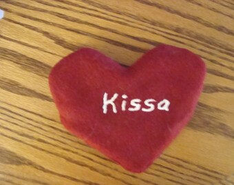 Free personalized catnip heart w/purchase of a catnip blanket