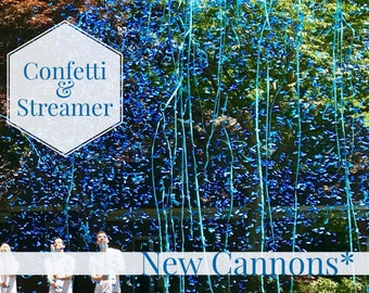 """24""""  CONFETTI & STREAMERS CANNON Gender Reveal Confetti Cannon and Confetti Cannons! *New* Gender Reveal Idea! Ships Same Day!"""
