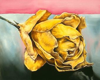 Yellow Rose Art Card