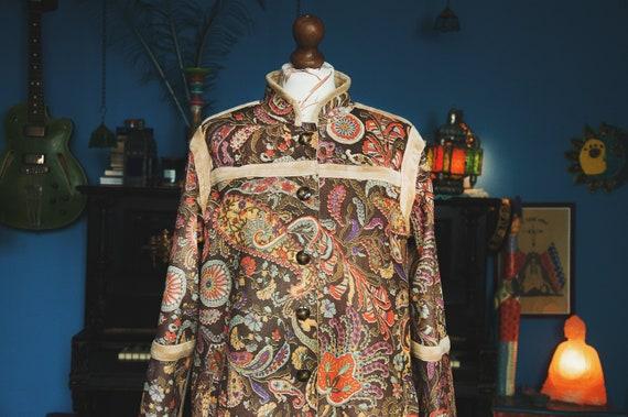 in India Coat Paisley Made WEAR ART Multicolor Vegan TO Maxi q8HawHz