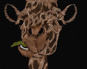 Machine embroidery design 'Big giraffe', animals, funny