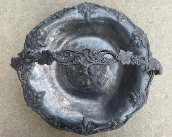Antique Pewter Basket-1800's Metal Basket-Vintage Pewter-Vintage Silver Basket-19th Century Pewter Basket-Antique Metal Basket-Brides Basket