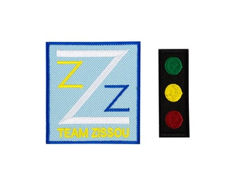 The Life Aquatic Team Zissou and Traffic Light Embroidered Iron On Patch Iron on Applique