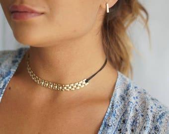 Gold Choker,Gold Chain Choker, Dainty Choker, Delicate Gold Choker, Chain Link Choker, Layering Necklace, Minimal Choker Chain Necklace