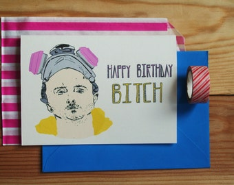 Breaking Bad card, jesse pinkman Birthday/fathers day/Anniversary Card' *free UK postage*