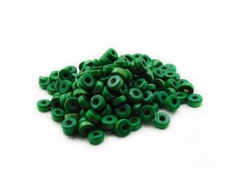8mm Green Rondelle Wood Beads, Green Wood Beads, 150pcs Rondelle Wood Beads, Green Rondelle Beads, Jewelry Making, DIY Beads