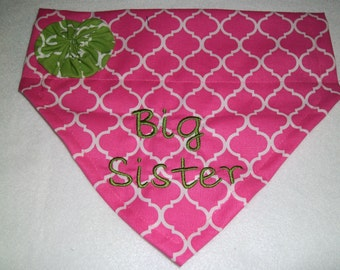 Big Sister, Pregnancy Reveal, Dog Bandana, Baby Announcement, New baby,  Baby Gift, pet baby gift, Shower Gift, Dog lovers gift, photo shoot