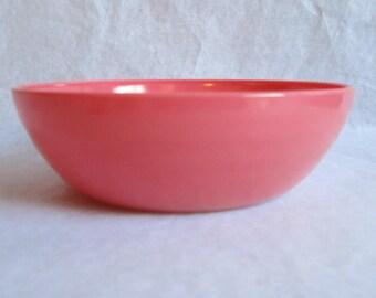 Hazel-Atlas Ovide Large Serving Bowl Pink Coral Flamingo