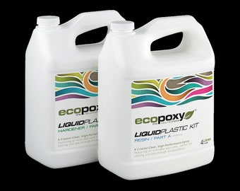 EcoPoxy Liquid Plastic 1L 2L 4L - Safe Epoxy Resin for Artists | Green Eco-Friendly | Environmentally Safe | Resin Artist Recommended