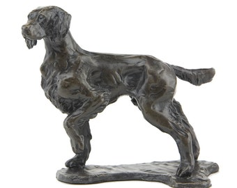 Foundry Bronze Standing Springer Spaniel Sculpture by Sue Maclaurin (Solid Bronze).  Limited Edition 250. Beautifully gift boxed.