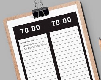 To do list printable, To do insert, To do list planner, Daily notes, Printable list, To do planner, Printable to do list, Minimal to do list