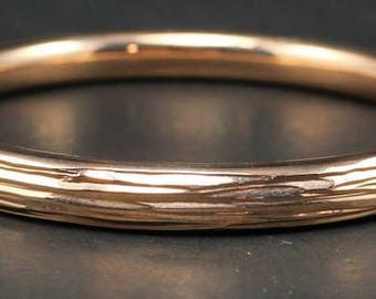 14K Rose Gold Milor Italy  bracelet bangle 11.1 Grams  -VERY HEAVY - Stunning
