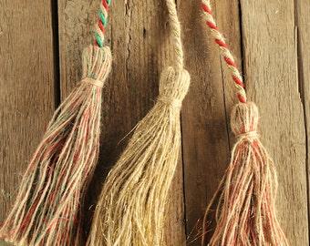 Tassel Jute  1m length available in 7 Christmas colours