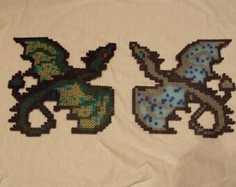Custom Perler Bead Flying Dragon