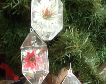 3 Vintage Classic Christmas Ornaments