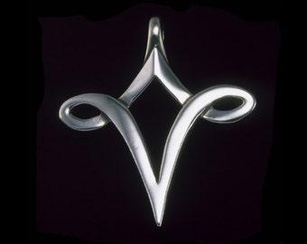 Vessel Pendant, Alchemical Symbol, Symbolic Jewelry, Spirituality, Sterling Silver
