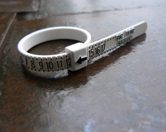 Ring Sizer   Plastic Ring Size Finder   Multisizer   Finger Measurement Ruler   Finger Sizing   Ring Sizing   US Whole and Half Sizes