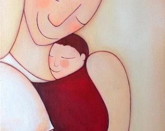 Papá llévame junto a ti, Reproducción  de Nanni Art.