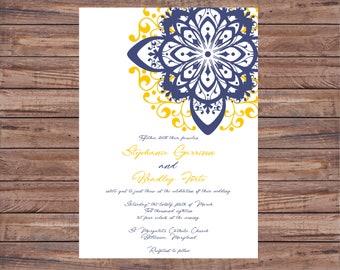 Printable Wedding Invitation Printable, Wedding Invitation Digital Download, Simple Wedding Invitations, Lace Invitations Wedding, Invites