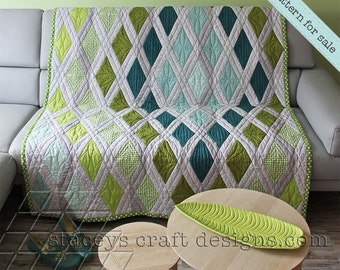 Diamond Sea Quilt PDF pattern with instructions