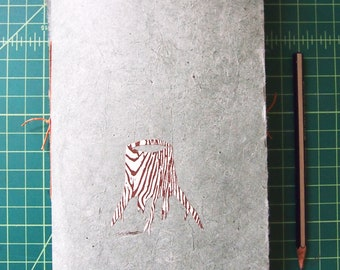 Dos-a-dos hand bound journal for writing and sketching!