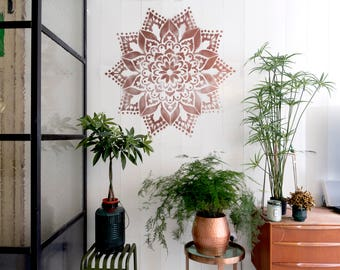 Mystery Mandala stencil, 80 by 80 centimeters