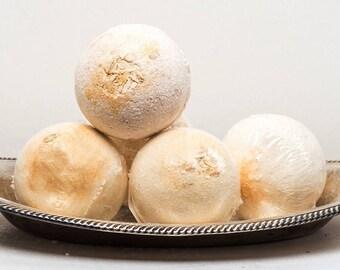 Oatmeal, Milk and Honey Bubble Bath Bomb, Milk Bath, Oatmeal Bath Fizzy7.5 oz. by Green Bubble Gorgeous on etsy