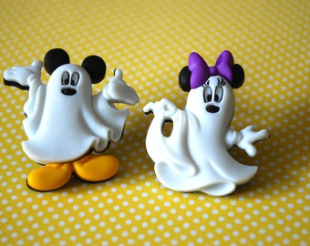 Halloween Mickey Mouse Ghost Earrings -- Mickey and Minnie Mouse, Mouse Ears, Halloween Earrings