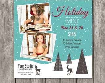 Holiday Marketing Board - Christmas Mini Session Template for Photographers - MS15