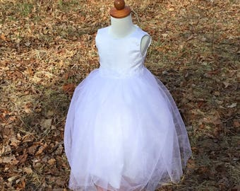 White Flower Girl dress size 2T