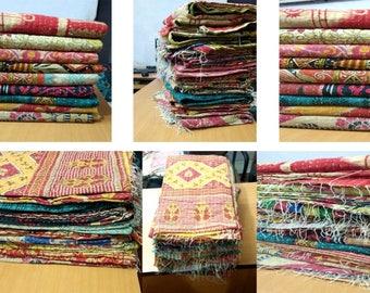 10 Pcs Wholesale Lot Bohemian picnic rug kantha quilt / handmade reversible Indian throw / vintage bedspread / Kantha throw / Bangali Quilt