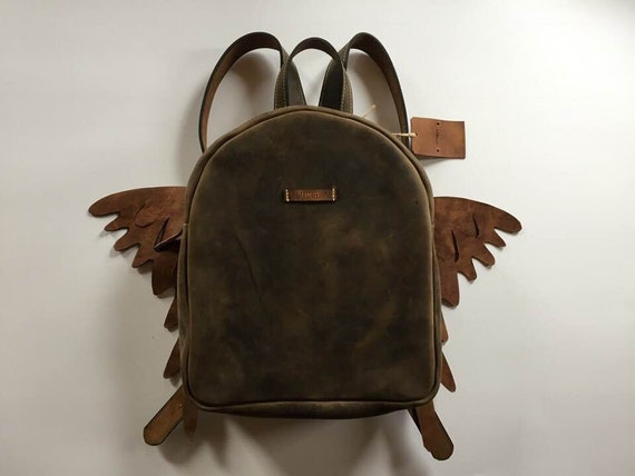Wings Leather BackPack, School BackPack, Travel BackPack, Handmade BackPack, Overnight BackPack, Travel Bag, School BackPack
