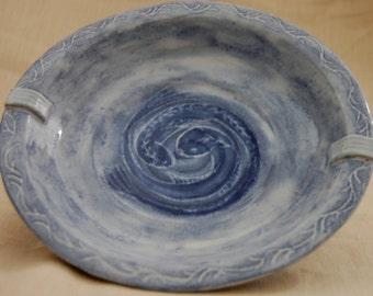 Blue Serenity - handmade ceramic bowl, pottery bowl, serving bowl, ceramic dish, stoneware bowl, home decor, gift idea, sgraffito pottery