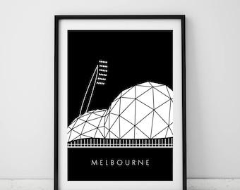 AAMI Park, Melbourne print , Melbourne, A4 print, Australia, Stadium, Modern, Wall art, Digital, Room decor, Interior, Design, Unique, Art