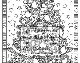 christmas coloring page christmas treats holiday coloring book adult coloring page holiday xmas