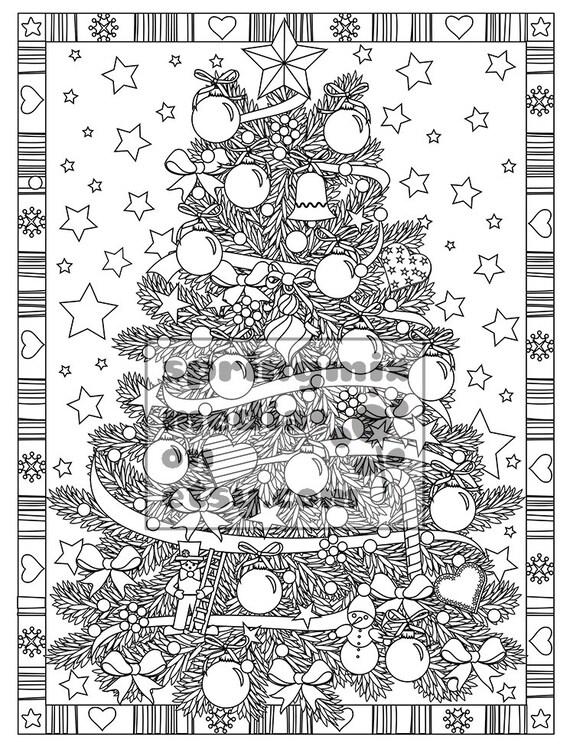 Natale da colorare pagina albero di natale vacanze di natale - Lista di natale da colorare pagina da colorare ...