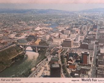 New World's Fair Expo'74 Spokane Washington Postcard, Collectibles Ephemera Collages The Fair and Spokane