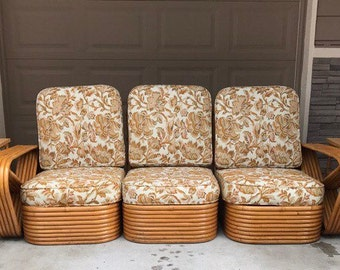 furniture made of bamboo. Sold*Do Not Buy*5 Piece Set Of Mid Century Paul Frankl Rattan Furniture Made Bamboo I