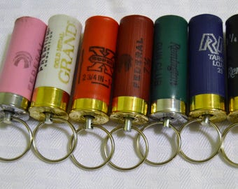 12 gauge Shotgun shell keychain recycled Remington Winchester federal Rio
