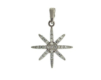Swarovski North Star Pendant With Sterling Silver Chain 18'