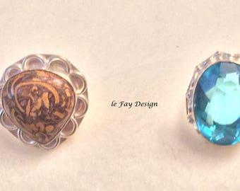 Silver Ring, Elephant Jasper Ring, genuine silver massive,Topaz Ring, Boho Ring, Silver Jewelry, Silver Ring