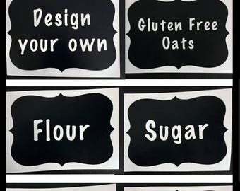 Design your own Labels: perfect for kitchen, bathroom, office, storage, basement, Christmas decorations. Gifts for mom, friend, or sister