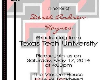 Graduation Party Invitation - Texas Tech