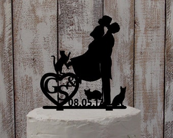 Cake topper Names-Wedding accessoires, wedding cake, wedding, cake figure