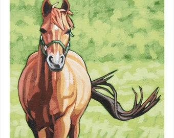 "Horse Art Print, 8"" x 8"" - Trotting"